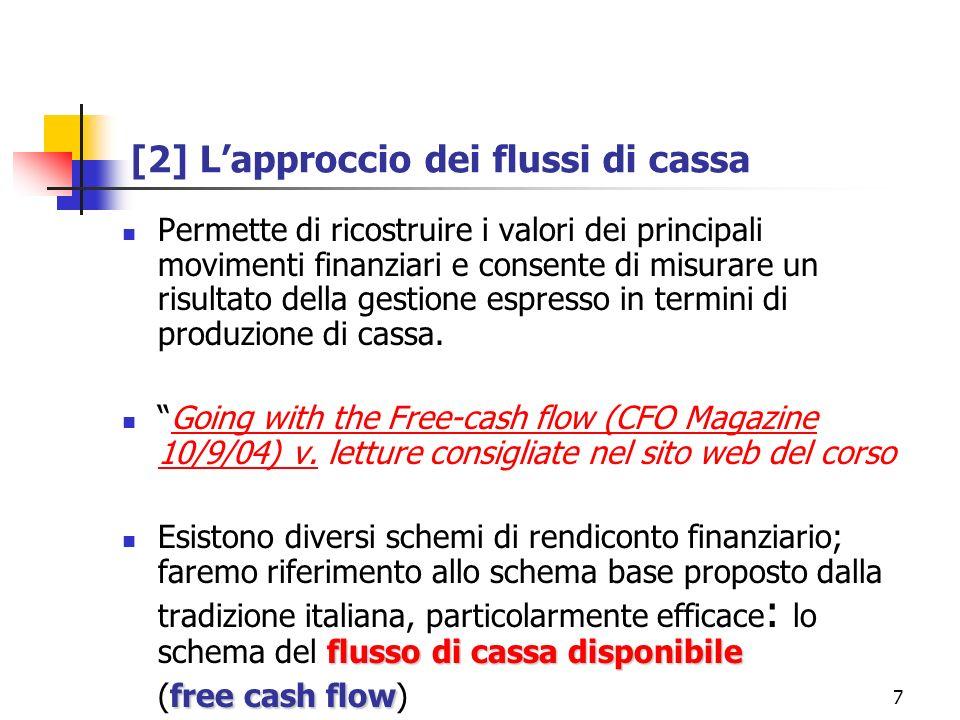 [2] L'approccio dei flussi di cassa